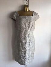 BNWT Monsoon metallic silver sparkle dress size UK 14