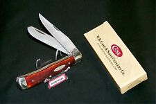 Case XX 6254 Knife USA Red Bone Trapper 1965-1969 Used W/Newer Packaging Rare