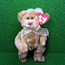 Rare Ty Attic Treasures Beverley The Bear 1993 Retired Jointed Plush Toy - MWMT