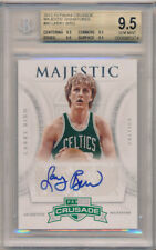 2012-13 Panini Crusade Majestic Signatures #80 Larry Bird Auto BGS 9.5