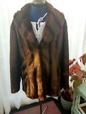 Womens River Island Verry Glamourous Faux Fur Coat Jacket Forties style.  size14