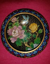 Antique Chinese Cloisonne HandPainted Brouze Enamel Gold Washer/Pot 4x1,5inch