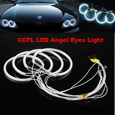 4x White Angel Eye Halo Ring CCFL Light For BMW E46 E39 E38 E36 3 5 7 Series PC