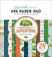Echo Park - Summer Adventure 6x6 Paper Pad 24 Double-sided Sheets Camp