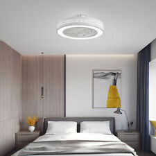 Ceiling Fan LED Light Remote Control Lamp Dimmable Bedroom Office Modern 110V