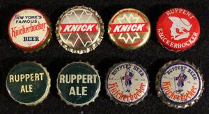 8 RUPPERT KNICKERBOCKER CORK & PLASTIC LINED SODA BOTTLE CAPS CROWNS NEW YORK NY