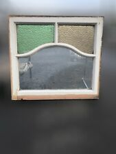 More details for reclaimed art deco stained glass wooden panel window