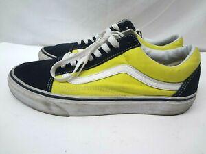 Vans Old Skool Skate Shoe Low Top Yellow Black Men's Size 10