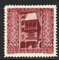 Austria 200 Kronen Stamp c1923 Mounted Mint Hinged (5223)