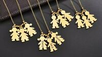 CUSTOM NAME NECKLACE MY FAMILY 1-3 Names YOU CHOOSE GOLD CHAIN ENGRAVE AUSSIE