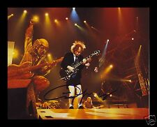 ANGUS YOUNG - ACDC AUTOGRAPHED SIGNED AND FRAMED PP PHOTO POSTER