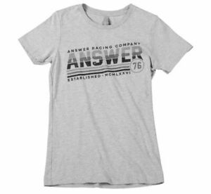 Answer Racing Women's Ascend Tee Heather Gray Large