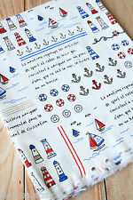 Nautique en tissu de coton Zakka Mignon Cartoon Premium à coudre Quilting Patchwork Craft