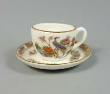 WEDGWOOD KUTANI CRANE MINATURE (MINI) TEA CUP AND SAUCER (PERFECT)