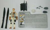 1988 GI Joe Blizzard Arctic Snow Attack Soldier v1 Figure w/ File Card *Complete