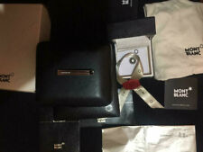 Montblanc tie bar stainless steel & onyx + VIP LAPEL PIN WITH BOX AND PAPERS