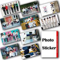 10Pcs / Set Kpop VIXX HD Waterproof Lustre Photo card Crystal Card Sticker