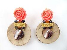 Ohrschmuck im Ohrstecker-Stil aus Gelbgold mit echten Edelsteinen Durchzieher