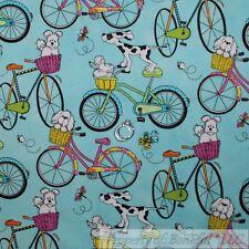 BonEful Fabric Cotton Quilt Blue Water Old Beach Bike B&W Dog Basket Bee L SCRAP