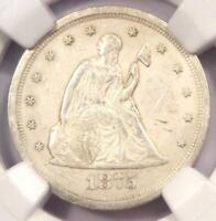 1875-S Twenty Cent Coin 20C - Certified NGC Uncirculated Details (UNC MS)!