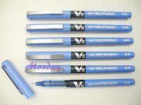 12 x Pilot Hi-Tecpoint V5 Needle Tip 0.5mm Extra Fine Roller Ball Pen, BLUE