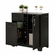 Liquor Cabinet Home Mini Bar Furniture Buffet Table Server Wine Gl Rack Black