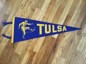1930/40s University of Tulsa Wool Felt Football Pennant