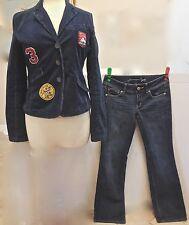 Ladies AMERICAN EAGLE BLAZER W/JEANS! Blazer-Cool Appliques!/Sz M & Jeans-Sz 6