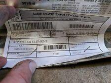 Filtro ARIA CABINA P/N 008 1537 3 PER SAME DEUTZ Fahr trattori e Landini