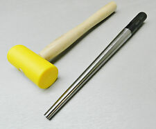STEEL RING MANDREL & PLASTIC MALLET JEWELRY MAKING TOOL SET SIZING & FORMING