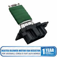 Vauxhall Corsa D FIAT Riscaldatore Blower Controllo Motore Ventilatore Resistore