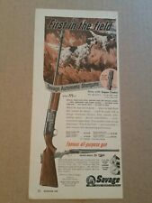 1955 Savage Automatic Shotgun Ad Model 775-SC Pointer Dogs