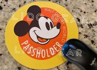 Disney ANNUAL PASSHOLDER ROUND Mouse pad NEW -  PASSHOLDER Mousepad 8""