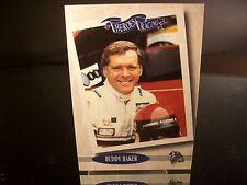 Rare Buddy Baker Press Pass HEROES OF RACING 1995 Card #119 Legend Series