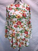 AX Paris Women's Long Sleeve Floral Skort  Dress. Size 14. C27