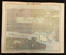 New York c.1883 Map of North Manhattan by Letts