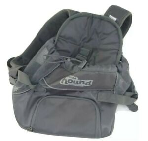 Outward HoundPooch Front Pack Carrier Backpack Small Dog Raise the Woof Gray