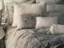 BAY LINENS FLORENTINA Italian luxury Queen Duvet set 2 pillow shams & bed skirt