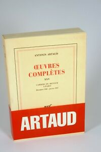 Antonin Artaud, oeuvres complètes XXV - Editions Gallimard
