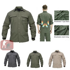 e5d6d62b683 Mens Long Sleeve Shirts Quick Drying Shirt Army Military Hiking Casual  Outdoor