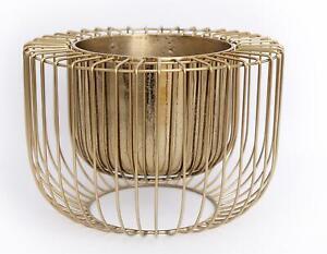 Gold Wire Design Decorative Indoor Planter 32cm