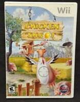 Chicken Shoot  - Nintendo Wii Wii U Game 1 Owner CLEAN Mint Disc !