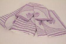 Hand Towel Set 6 Pieces 2 Washcloth 2 Guest Towels 2 Towels Cotton Purple