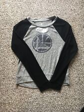 NWT GOLDEN STATE WARRIORS Ladies Plush Cozy Raglan Crew Neck-Hacci Fleece Medium