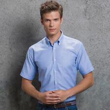 Kustom Kit Men's Short Sleeve Slim Fit Shirt Cotton Rich Oxford Business (KK183)
