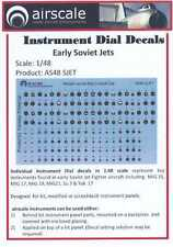 Airscale Decals 1/48 EARLY SOVIET JETS INSTRUMENT DIALS