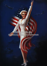 American Nurse Stars militaire chars Bomber Billy DeVORSS art Pin Up plaque 037