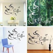 Coffee Cup Cafe Tea Wall Stickers Art Vinyl Decal Pub Restaurant Kitchen Decor C