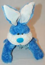 """Sugarloaf Blue White Easter Bunny Rabbit Big Cottontail Plush Stuffed Toy 16"""""""