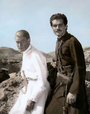 "PETER O'TOOLE OMAR SHARIF LAWRENCE OF ARABIA 1962 8X10"" HAND COLOR TINTED PHOTO"
